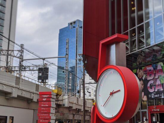 HEP FIVE(大阪)前の時計